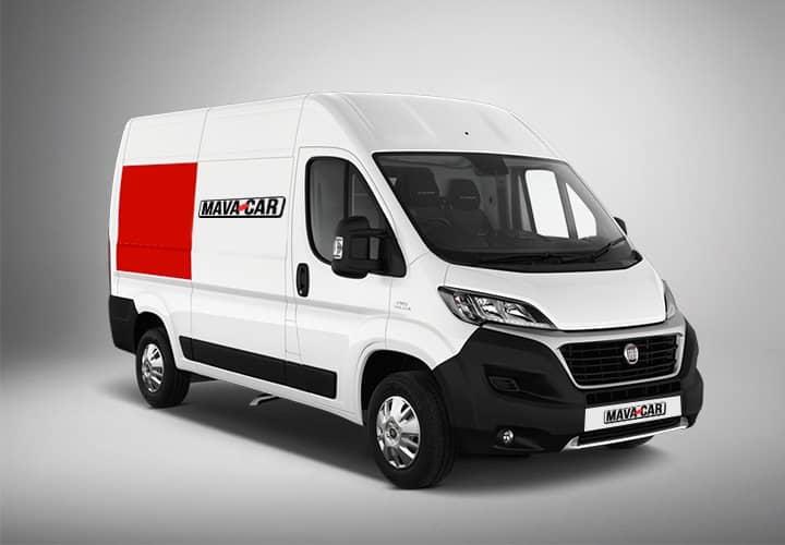 Noleggio furgone di serie con logo Mavacar
